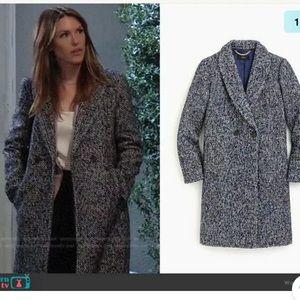 25 J.Crew Daphne coat in Italian tweed SZ 4 NAVY